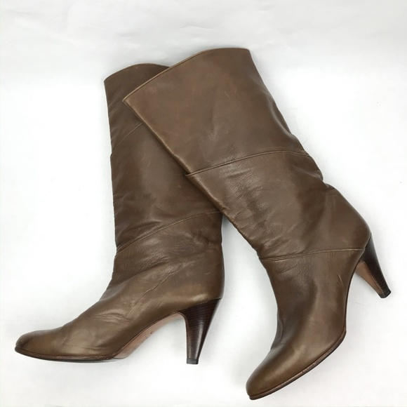 Tan Leather Slouch Boots   Poshmark